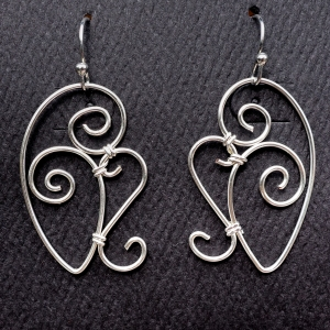 Cecropia Wings Doodle Earrings